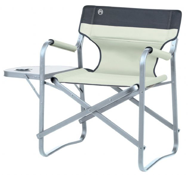Coleman Deck Chair With Table (Khaki) Camping Chair, Outdoor Garden Chairs and Seats - Grasshopper Leisure
